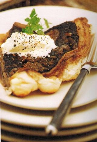 Mushroom Tart Tartin