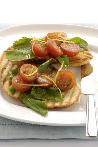 Grilled Tomatoes On Bruschetta