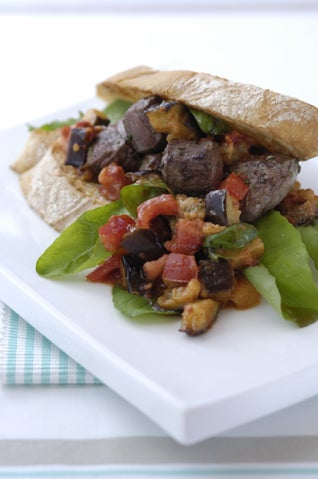 Beef Fillet Burgers With Aubergine Salsa