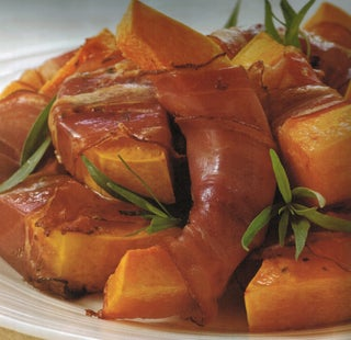 Roasted Butternut Wrapped In Prosciutto
