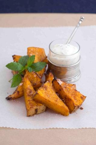 Thai Spiced Pumpkin Chips With Sour Cream