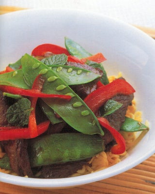 Beef And Mint Stir Fry