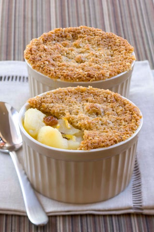 Quick Apple And Marmalade Crumble