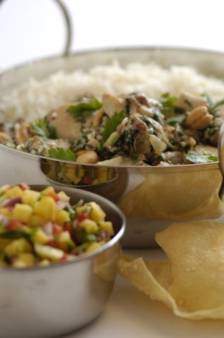 Chicken Curry With Mint, Coriander And Yoghurt
