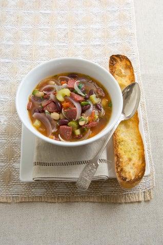Salami And Bean Soup