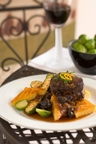 Grilled Beef Fillet Steaks In Merlot Marinade With Prune Jam