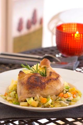 Braised Winter Chicken And Lentils