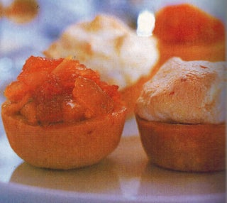 Tropical Fruit Mince Tarts With Coconut Meringue Topping