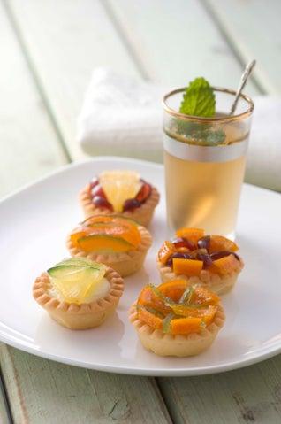Glace Fruit And Cream Tarts
