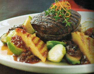 Beef Steaks In Merlot Marinade With Prune Jam