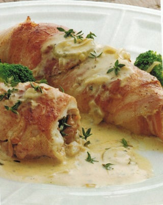 Pancetta Wrapped Fish With Pastis Sauce