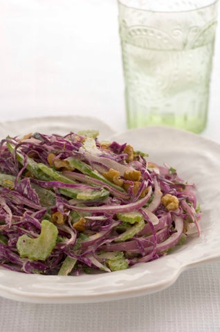 Red Cabbage And Walnut Coleslaw