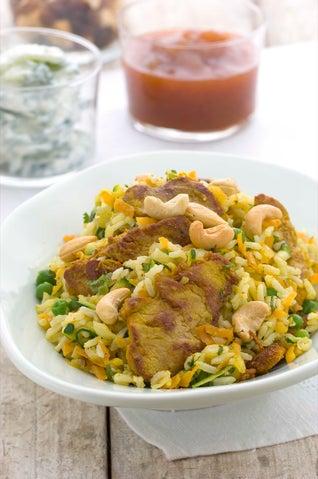 Spicy Pork Pilaf