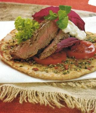 Cumin Steak On Spiced Flat Bread