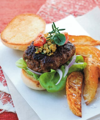 Andalusian Carnival Burgers With Paprika Potato Wedges