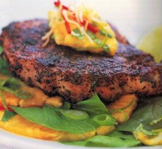 Spiced Pork Steaks With Pineapple Salsa