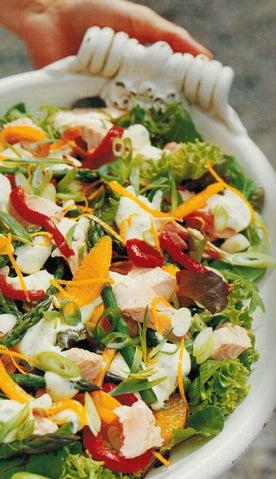 Salmon Salad With Creamy Tarragon Dressing