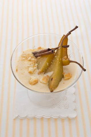 Zabaglione With Honey-roasted Pears