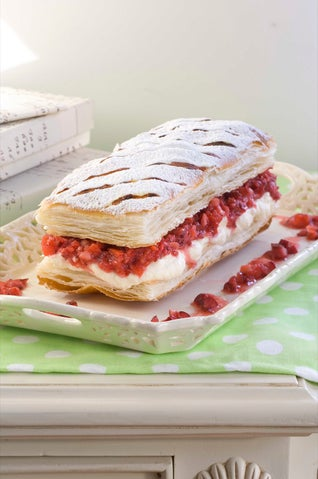 Strawberry And Cherry Mille-feuille