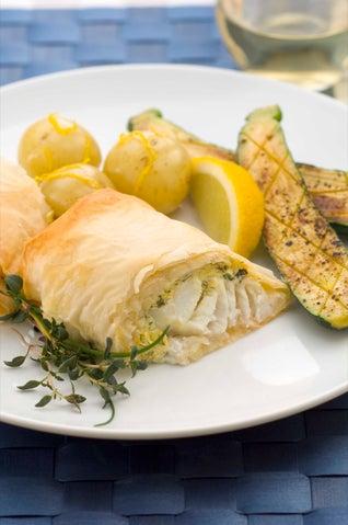 Creamy Fish Filo Parcels