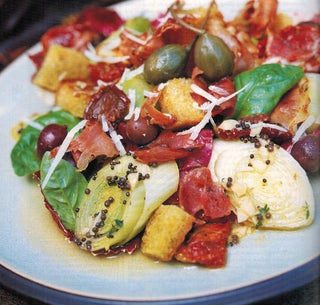 Marinated Leeks With Grilled Prosciutto