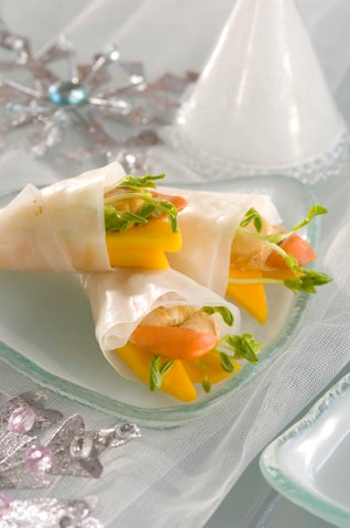 Kaffir Lime Scallops In Rice Wrappers