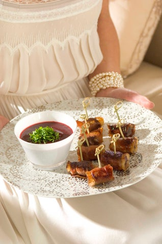 Duck With Prosciutto Kebabs With Plum Sauce