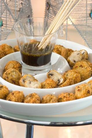 Panko Crumbed Mushrooms With Chilli Teriyaki Sauce