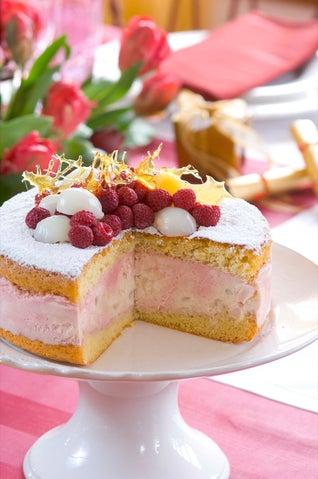 Raspberry And Lychee Cheesecake