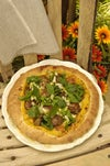 Indian Lamb Pizza With Pear And Tamarind Chutney