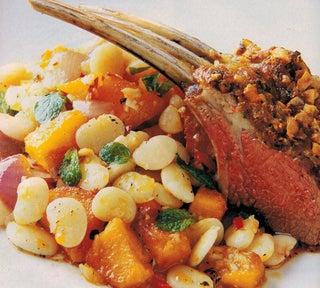 Warm Roast Pumpkin And Lima Bean Salad