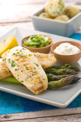 Chargrilled Dory Fillets With Lemon And Parsley