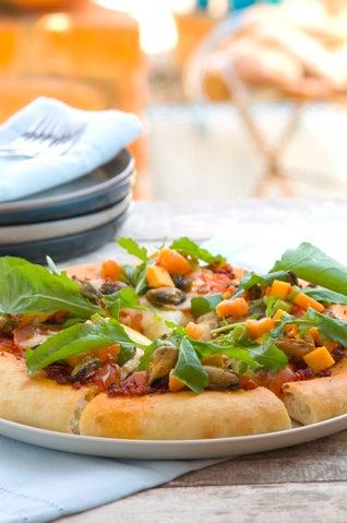 Wood-smoked Chilli Mussel Pizza With Pawpaw Salad