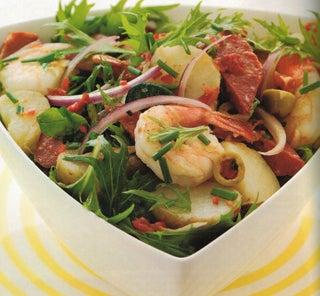 Spanish Potato And Prawn Salad