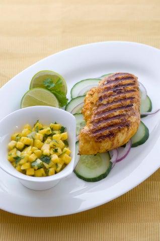 Chicken Tikka Masala With Mango Salsa
