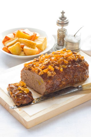 Apricot and Walnut Glazed Meatloaf