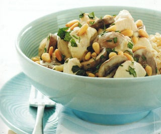 Chicken And Mushrooms In A Creamy Brandy Sauce