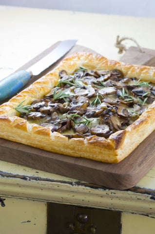 Mushroom And Mozzarella Tart