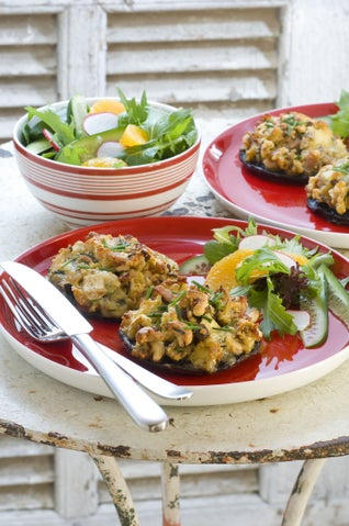 Cashew And Brie Stuffed Mushrooms