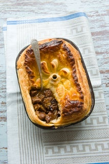 Steak And Kidney Pie With Prunes And Port