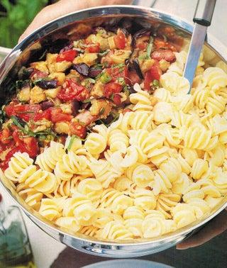 Fusilli Pasta With Aubergine Salsa