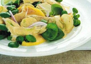 Warm Korma Chicken Salad