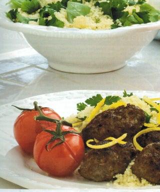Moroccan Lamb With Lemon Couscous Tabbouleh