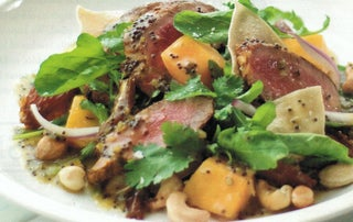 Salad Of Sweet Curried Lamb With Black Mustard Seed Dressing