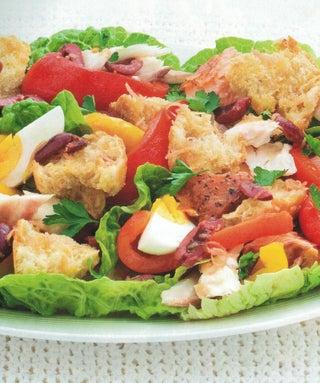 Lemon And Black Olive Smoked Fish Salad