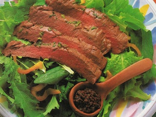 Skirt Steak Salad With Fig Tapenade