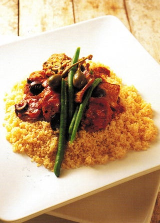 Pork Balls With Olives On Couscous