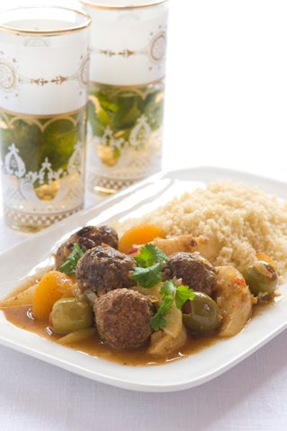 Sweet Hot Meatball Tagine with Pears