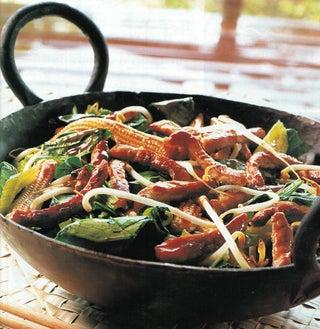 Stir fry Pork With Chinese Greens