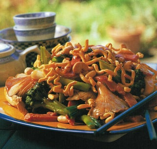 Ham And Oyster Mushroom Stir-fry